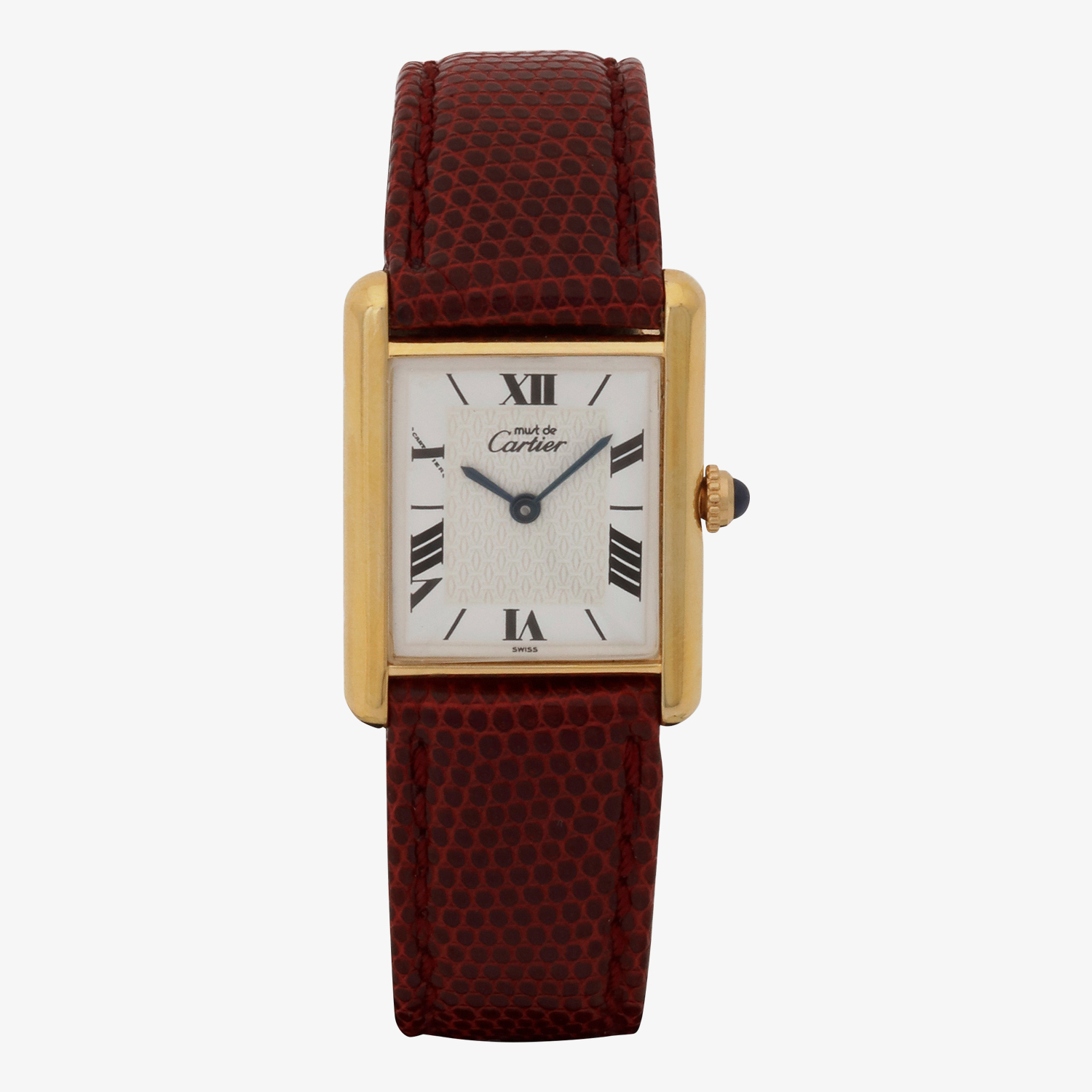 Cartier|must de Cartier TANK LM|Six Point Roman Dial|White- 90's|VINTAGE Cartier