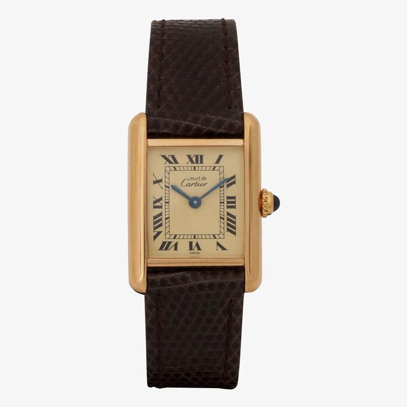 SOLD OUT|Cartier – must de Cartier TANK LM|Ivory Roman – 90's|VINTAGE Cartier