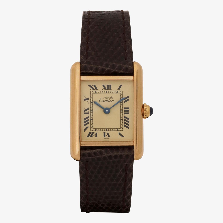SOLD OUT|Cartier - must de Cartier TANK LM|Ivory Roman - 90's|VINTAGE Cartier