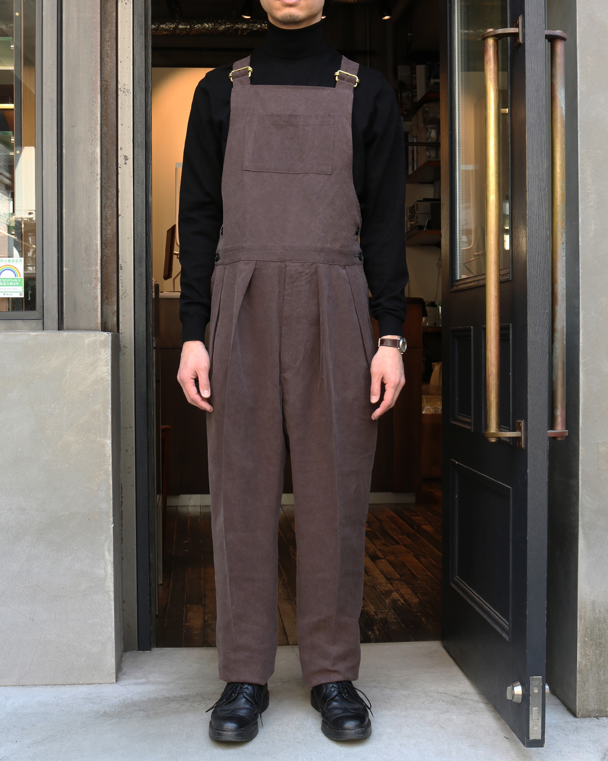 CELLULOSE NIDOM|OVERALL - Dark Brown<EXCLUSIVE>|NEAT