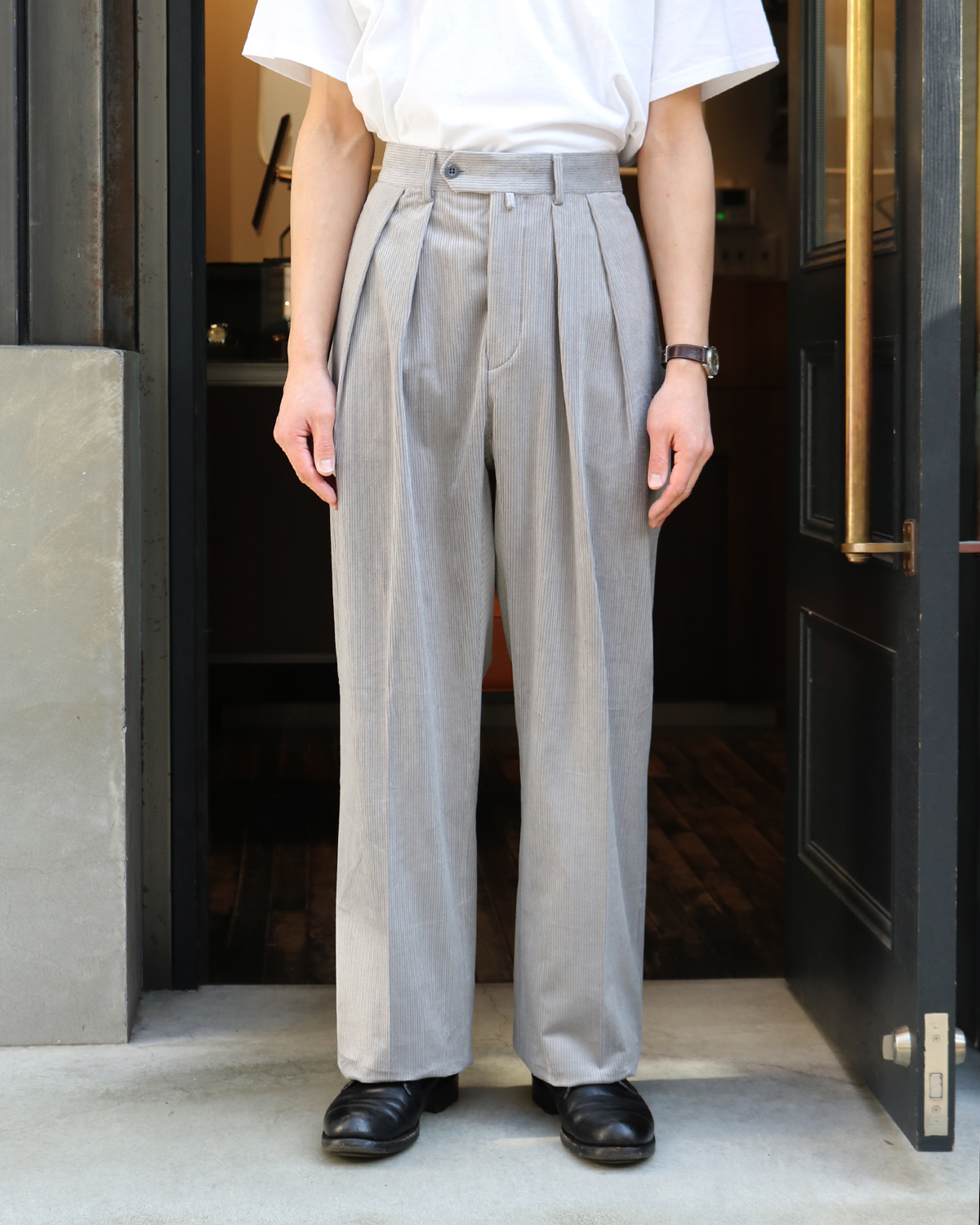 FRENCH CORDUROY|WIDE - Gray|NEAT