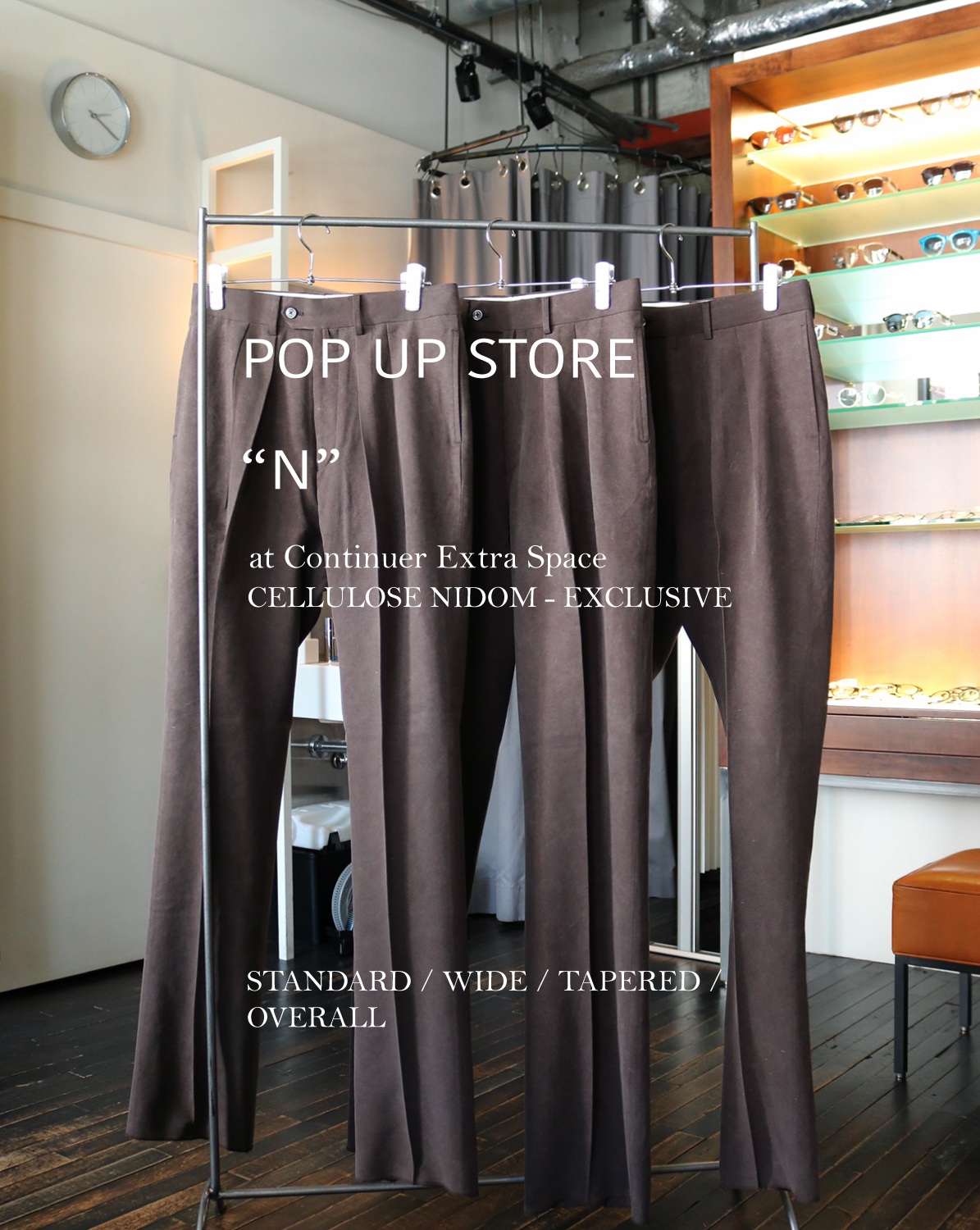 "POP UP STORE ""N"" at Continuer Extra Space"