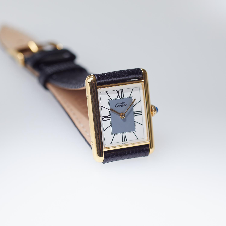 Cartier must de Cartier TANK LM Four Point Roman Dial <Bold> Grey - 90's VINTAGE Cartier