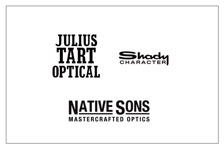 JULIUS TART OPTICAL , Shady CHARACTER , NATIVE SONS|価格改定のお知らせ