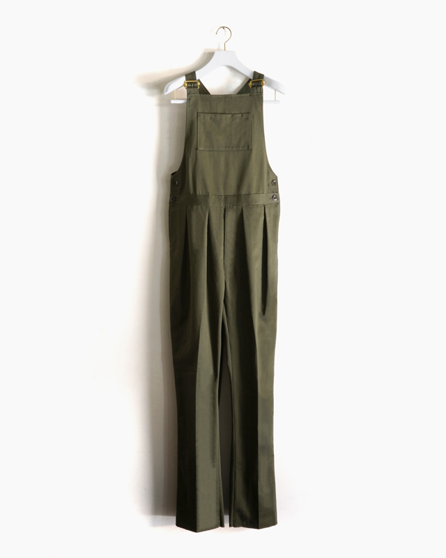 COTTON SATIN │OVERALL – OLIVE NEAT