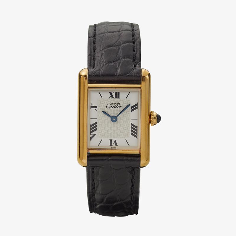 Cartier|must de Cartier TANK SM|Six Point Roman Dial|White – 90's|VINTAGE Cartier