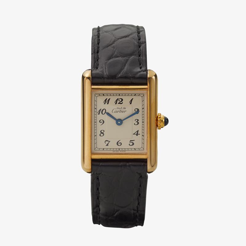 SOLD OUT|Cartier|must de Cartier TANK SM|Aribic Dial|White – 90's|VINTAGE Cartier