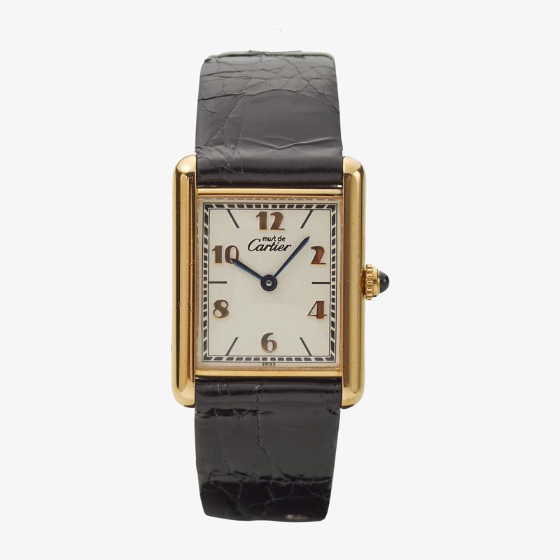 Cartier|must de Cartier TANK LM|Six Point Aribic Dial <Bold>|White – 90's|VINTAGE Cartier